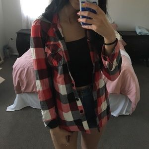 Forever 21 Tops - Red flannel