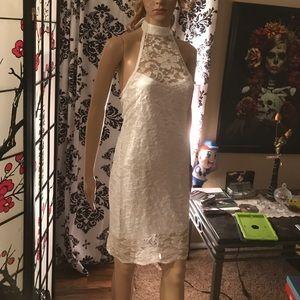 Strapless choker style dress