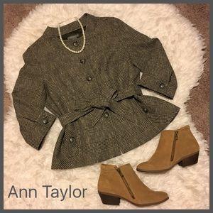 Ann Taylor Jackets & Blazers - NEW! Ann Taylor Chic Blazer Jacket w/ Belt size 14
