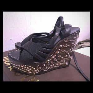 Class Roberto Cavalli Shoes - Roberto Cavalli Studded Wedges