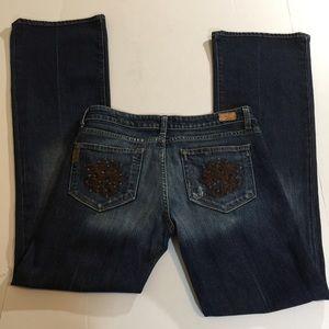 Paige Laurel Canyon Bootcut Jeans, size 30