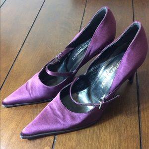 Emporio Armani Shoes - Emporio Armani purple silk shoes.