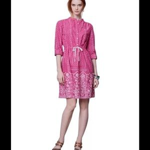 Anthropologie Dresses & Skirts - Anthropologie Meadow Rue Anila Shirt Dress In Pink