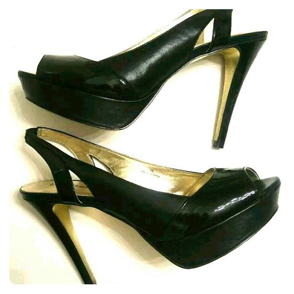 Bebe Zahara Heels Shoes Peeptoe Pumps