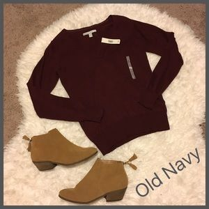 NWT! Old Navy Maroon Beautiful Summer Sweater M