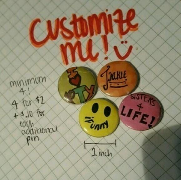 Customizable Pins / Buttons