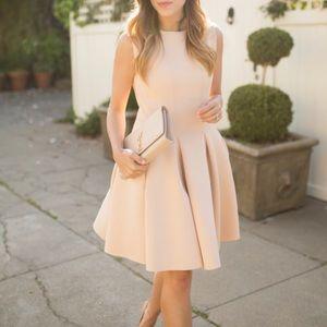 chicwish Dresses & Skirts - Chicwish Beige Scuba Pleated Dress XS