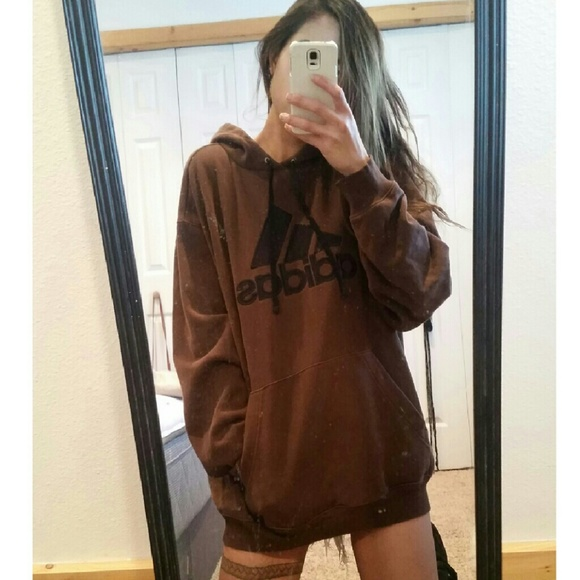 Adidas - Adidas brown oversized hoodie sweater dress from Muffin's ...