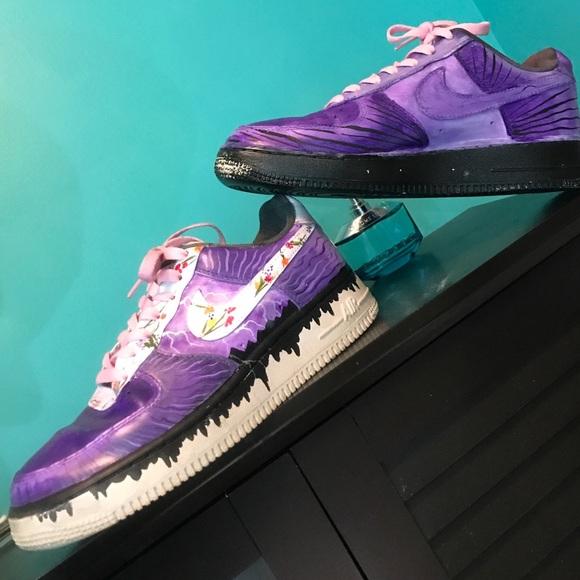 Custom Air Force One Nike Purple Rain
