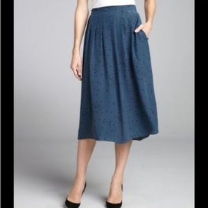 Geren Ford Dresses & Skirts - Geren Ford Polka Dot Pleated silk skirt