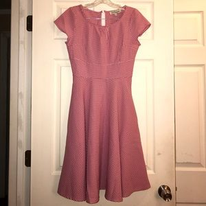shabby apple Dresses & Skirts - Shabby Apple Red & White Gingham Midi Dress 0P