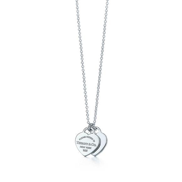 bbe9cc5c8 Tiffany & Co. Jewelry | Return To Tiffany Mini Double Heart Tag ...