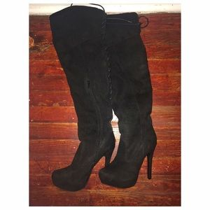Black Thigh high suave boots