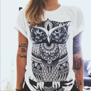 Owl tee Sz XXL fits like XL New