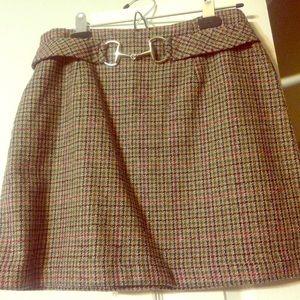 Dresses & Skirts - Tweed Horsebit Equestrian pencil skirt