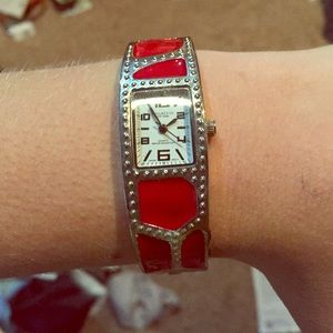 Red and silver kohls watch. NWOT