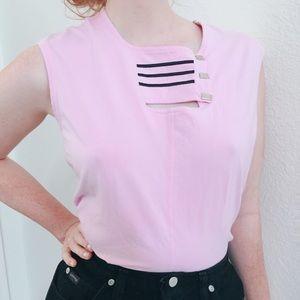 Pastels Clothing Tops - Bubble gum pastel vintage 80's Jamie sadock top