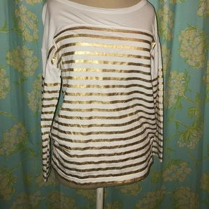 Gold Stripe Jcrew Shirt