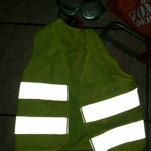 Toddler construction vest,goggles,bag,tools