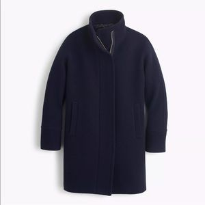 J.CREW STADIUM CLOTH COCOON COAT Navy - Size 2 NWT