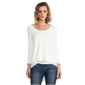 Central Park West Sweaters - Central Park West Sheer Back Sweater