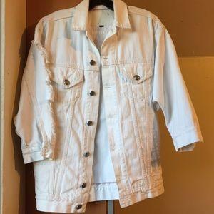 R13 White Oversized Denim Jacket size XS