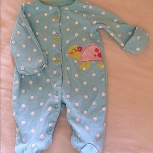 Cute carter's newborn footies.