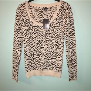 Urban Outfitter fitted animal print sweater