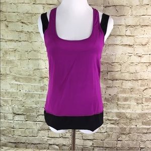 RORY BECA Silk Double Layer Racerback Tank Blouse