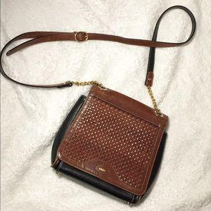 Bally Handbags - Bally Vintage Woven Leather Crossbody