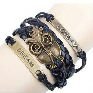 Jewelry - Black Love Leather Dream Bracelet ✨