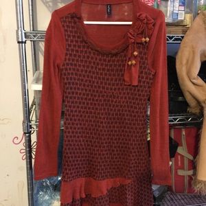 Red sweater dress never worn
