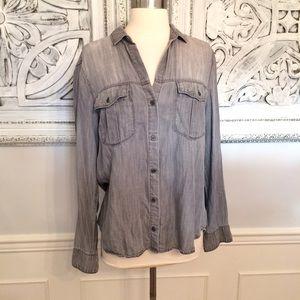 Cloth & Stone Gray Denim Shirt ~Anthropologie ~