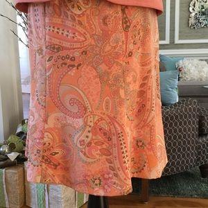Le Suit Dresses & Skirts - Paisley Side Zip Flowy Skirt