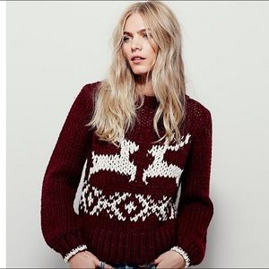 Free People Sweaters - Free People Dancer and Prancer Sweater