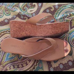 """Jimmy Choo """"Pathos"""" wedge sandal 37.5/7"""