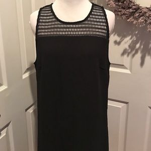 Gorgeous black dress with netted top, sz L