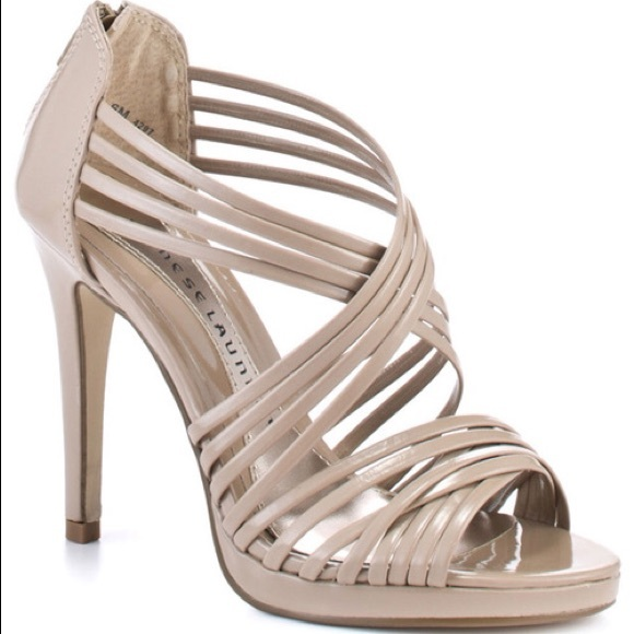 00a5dcd2bd1 Chinese Laundry Shoes - Chinese Laundry Nude Strappy Heel Prom Pageant 7.5