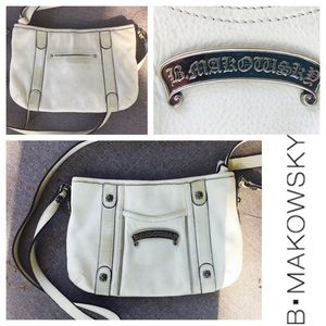b makowsky Handbags - B Makowsky white leather purse