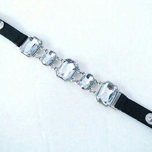"Jewelry - ""Shining Delight""- Crystal Drops Snap Bracelet"