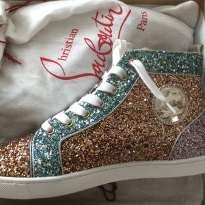 huge discount 238ef 7a3cd Women Red Bottom Glitter Sneakers on Poshmark