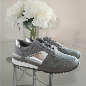 Michael Kors Shoes - Michael Kors Allie Trainer Flannel Sneakers Shoes