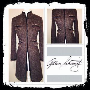 ABS Allen Schwartz Jackets & Blazers - Allen Schwartz long brown coat