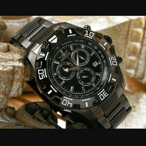 NWT  Invicta Python Gunmetal Chronograph watch