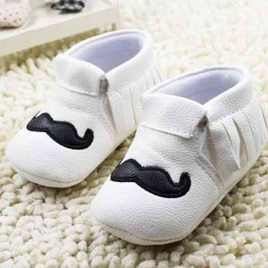Other - White Mustache Moccasins