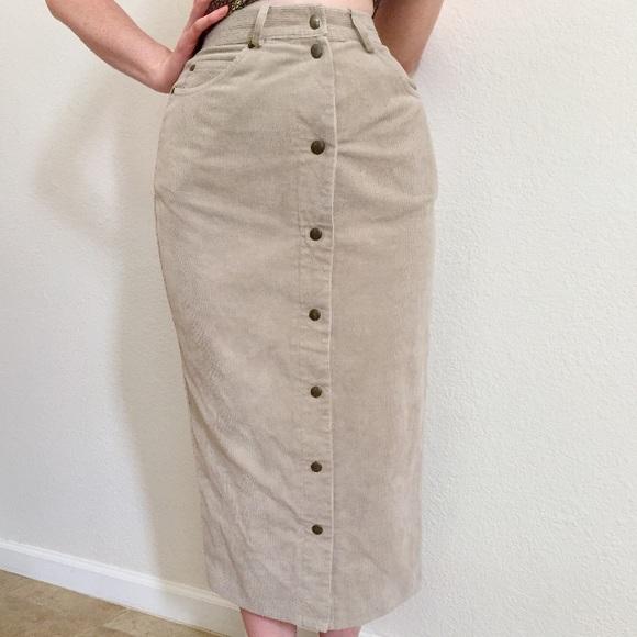 da59da9b7d Urban Outfitters Skirts   Vintage Super High Rise Corduroy Button ...