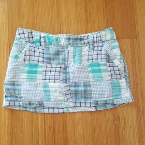 Adorable patchwork mini skirt
