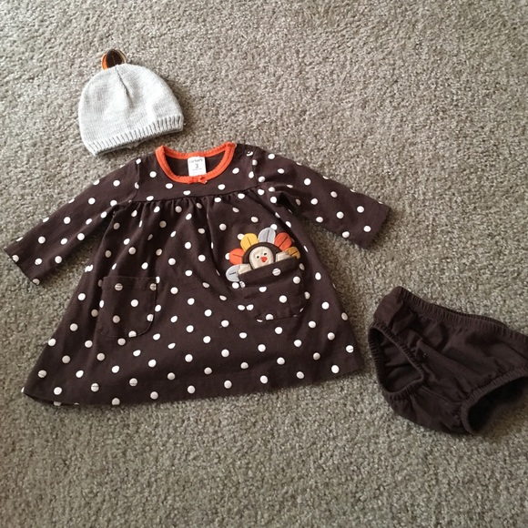 Carter s Other - Carters Thanksgiving Dress   Turkey Hat 04f058efd72