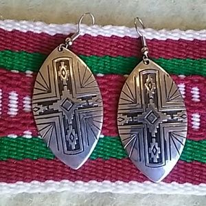 New Mexico Southwest Tribal Style Earrings NWOT