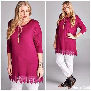 Tops - PLUSDanae Bottom Lace Tunic